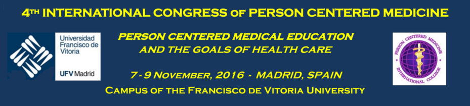 4th INTERNATIONAL CONGRESS of PERSON CENTERED MEDICINE